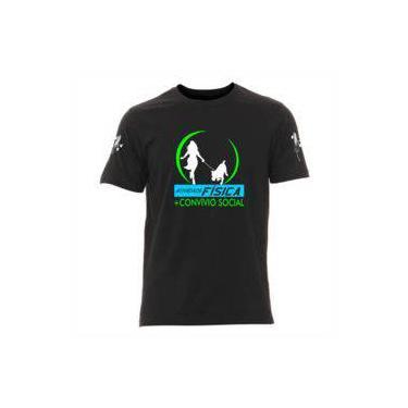 8490c83dc Camiseta De Atividade Física Mais Convívio Social Portal Marcas Masculina  Preta