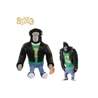 Imagem de Pelucia Sing Johnny Gorila - Beanie Babies Ty 18cm