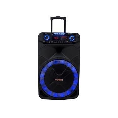 Caixa de Som Amplificada TRC 515 com Bluetooth, Entrada USB, Rádio FM e Controle Remoto – 500W