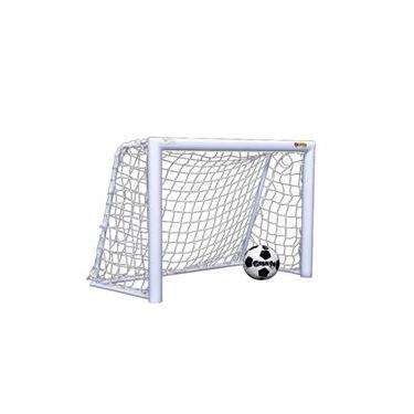 Mini Trave De Futebol Fácil Esporte Master Com Rede Branca