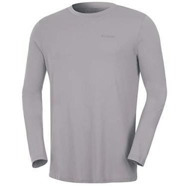 Camiseta Columbia Neblina Manga Longa Masculina - Cinza P