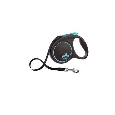 Guia Flexi Black Design Fita Grande 5M - Azul Para Cães