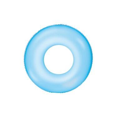 Boia Inflável Piscina Bestway Neon Redonda Resistente Azul