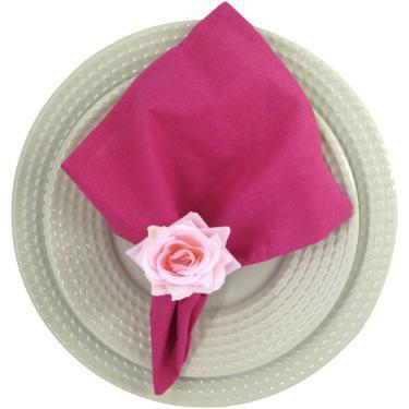 Imagem de Porta Guardanapo Mini Botão de Rosa (rosa) - 4 unidades