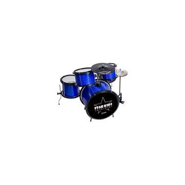 Imagem de Bateria Infantil Star Kids Azul Completa Luen