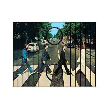 Esteira Bandeja Porta Copos Para Braço de Sofá Estampada  Capa The Beatles Abbey Road