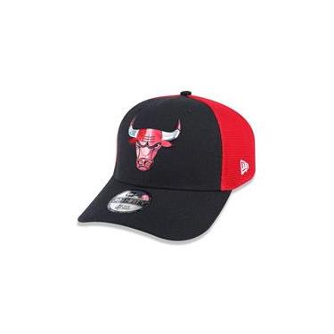 Bone 39Thirty Chicago Bulls Nba Aba Curva Preto/Vermelho New Era