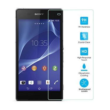 [2 unidades] Protetor de tela para Sony Xperia Z2, protetor de tela de vidro temperado para Sony Xperia Z2, protetor de tela de vidro temperado transparente resistente a arranhões para Sony Xperia Z2