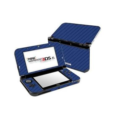 Skin Adesivo Protetor 4D Fibra de Carbono New Nintendo 3DS XL (4D Azul)