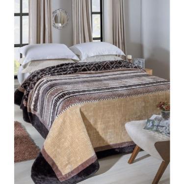 20d49fa9c2 Cobertor Raschel Estampado King Size 2.60 x 2.40m Gramado Jolitex
