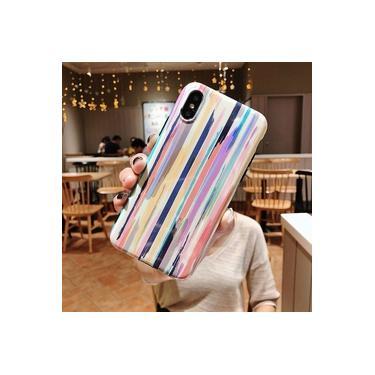 Para Iphone 7 8 Plus 6 S Blu-ray Rainbow Phone Case Para Iphone Xs X 6 6 S 7 8 Plus Laser Aurora Br