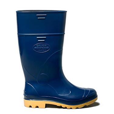Bota Cano Longo Azul/amarelo Industrial N°44/45 C.a.31.224