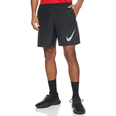 Shorts Nike Run 7in BF WR GX Preto e Branco - Masculino