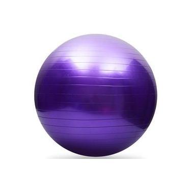 Bola de Pilates 65cm Suporta até 150 Kg com bomba de ar-ROXO