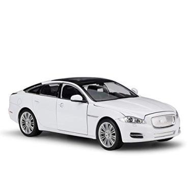 Imagem de Deformation toys 1:24 para jaguar 2010 para jaguar xj esportes carro simulação liga modelo de carro artesanato coleção t-Oy ferramentas presente (Color : White)