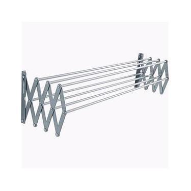Varal Sanfonado Parede Retrátil 60cm Alumínio