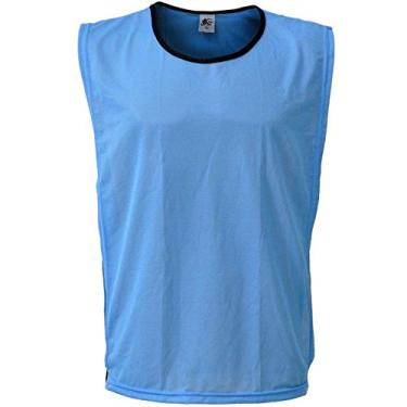 Colete Esportivo de Futebol - Cor Azul Celeste - Kanga Sport