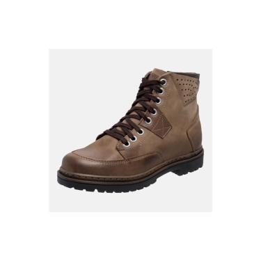 Bota Coturno Em Couro Mega Boots 6029 Kaki-chocolate  masculino