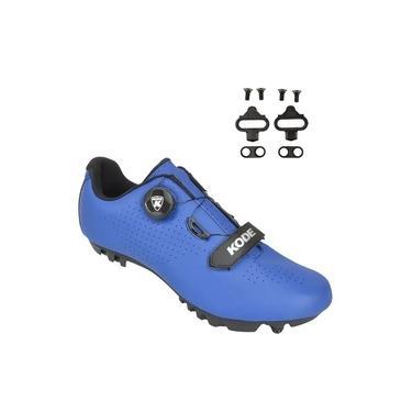 Sapatilha Mtb Ciclismo Kode Enduro Azul + Tacos Shimano Sh51