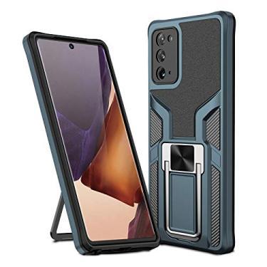 MOONCASE Capa para Samsung Galaxy Note 20, suporte magnético para carro, capa protetora à prova de choque para Samsung Galaxy Note 20 de 6,5 polegadas - ciano