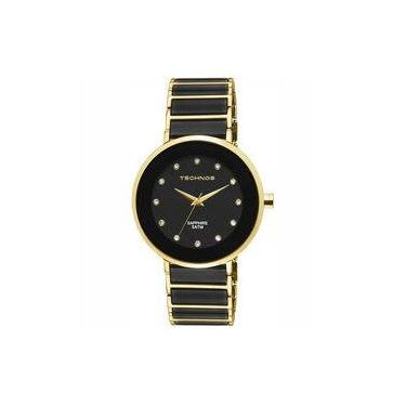 0ad9b92ede1f9 Relógio Technos Feminino Elegance Ceramic Sapphire Analógico 2035LMM 4P