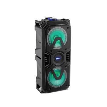 Caixa de Som Amplificada Lenoxx CA400 Portátil USB 200W com Bluetooth e LED Lights - Bivolt
