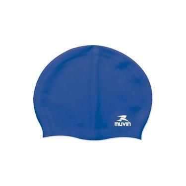 Touca de Natação em Silicone Standard Azul Muvin TCS-100