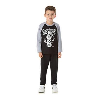 Roupa Infantil Masculino Conjunto Masculino Inverno Blusa e Calça Cor:Vermelho;Tamanho:4
