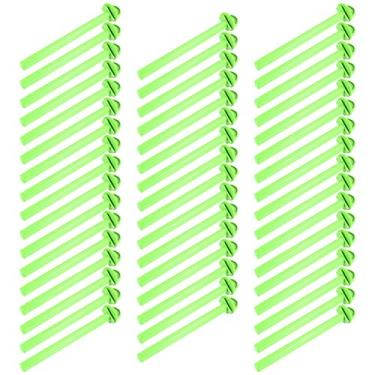 POPETPOP 50Pcs Gaiola De Pássaro De Plástico Stand Titular Plástico Poleiros Gaiola de Pássaro Canário Finch Periquito Verde Plataforma