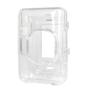 Transparente de cristal pvc caso protetor protetor escudo capa saco da câmera para fujifilm mini