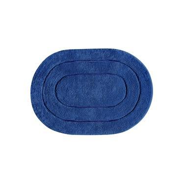 Imagem de Tapete De Banheiro Algodão Oval Vizapi Erode 60X90Cm Azul Bic