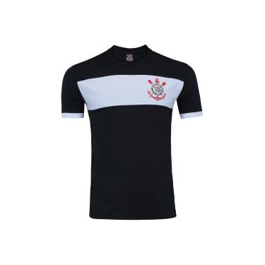 6ab0c57345 Camiseta do Corinthians Basic TR - Masculina - PRETO BRANCO Xps Sports