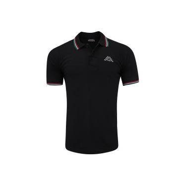 32aaff07d Camisa Polo Kappa Fuerza - Masculina - PRETO Kappa