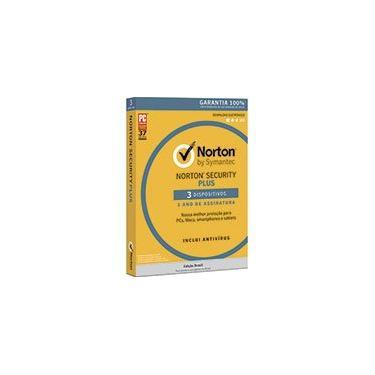Norton Security Plus 3 dispositivos 1 ano Nortonlifelock CX 1 UN