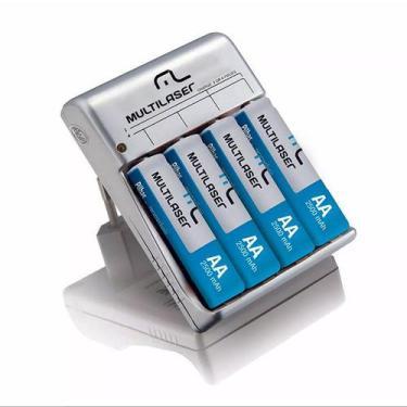 Carregador de pilhas 4p aa/aaa cb054  multilaser