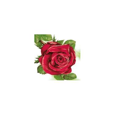 Guardanapo para Decoupage Rosa Grande 33X33CM PCT com 20