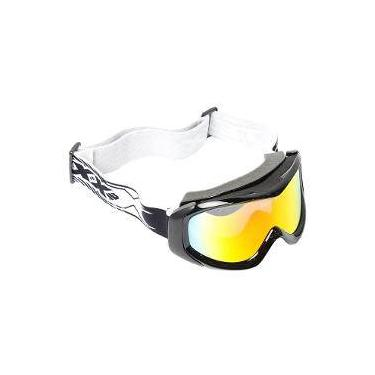 Óculos Texx FX-5 Para Capacete Motocross   Off Road - Preto Lente Espelhada 10829d02eb