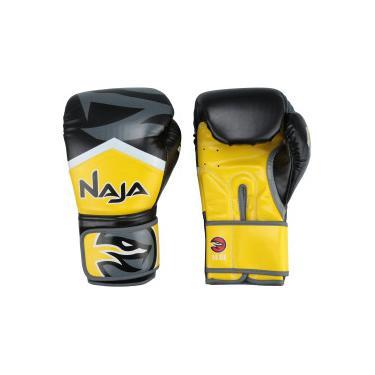 4bb510c7c Luvas de Boxe Naja New Extreme - 14 OZ - Adulto - AMARELO Naja