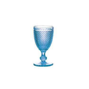 Jogo de Taças para Vinho Bon Gourmet Bico de Jaca Azul 235 ml - 6 peças