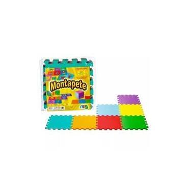 Imagem de Tapete Eva Montapete Liso Colorido 18 Peças - Nig Brinquedos