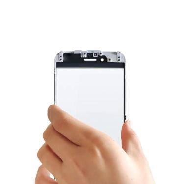 Tela exterior para iphone 7 plus/iphone7 painel de toque frontal display lcd para fora da lente de