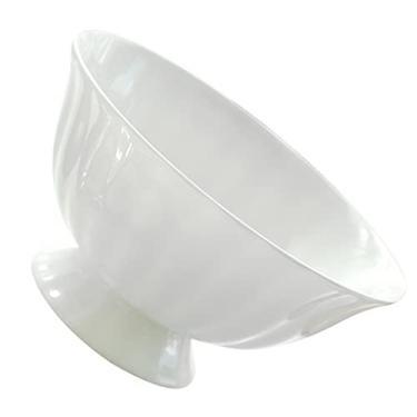 UPKOCH Porcelana Tigela Footed Bowl Aperitivo Servindo Tigela Tigela de Sopa de Macarrão De Arroz de Frutas de Sobremesa Tigela Tigela de Comida Tigela Recipiente de Alimento 12Cm