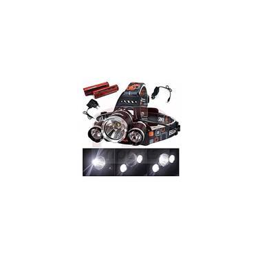 Imagem de Lanterna / Farol De Cabeça Bike 3 Led Cree T6 Recarregável