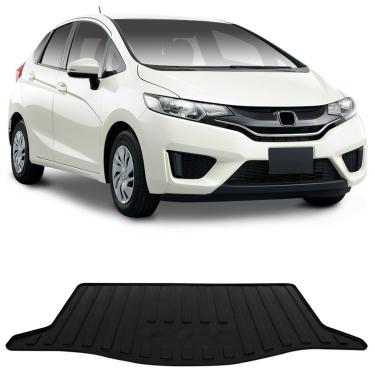 Tapete Porta Malas Bandeja Honda New Fit 2014 a 2018 Preto Fabricado em PVC  com Bordas e943a951a3