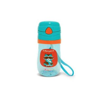 Copo Plástico c Canudo Tampa Pop-up e sist antiv Lets GO Guaxinim Morgan - Comtac Kids - 4166