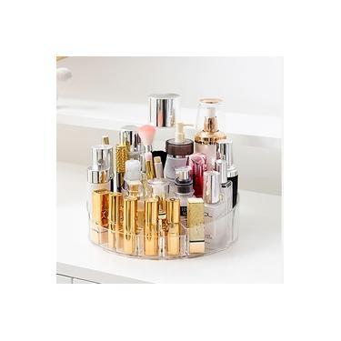 Organizador de maquiagem multifuncional giratório 360 ° ajustável Caixa multifuncional de armazenamento de cosméticos Decoração de casa