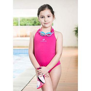 Maiô Infantil Helanca Just Fit/Pink-Rosa / 8