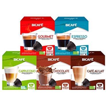 Imagem de 80 Cápsulas Para Dolce Gusto - 5 Caixas - Kit Café E Bebida - Cápsula Bicafé