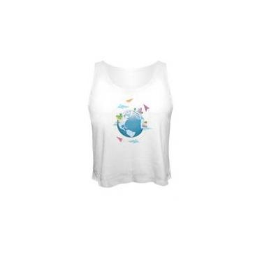Camiseta Cropped Planeta 2