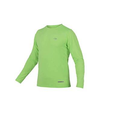 Camiseta Masc Proteção UV Body Fit Mormaii Manga Longa/Verde limão/P